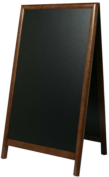 Kundenstopper dunkelbraun 58 x 100 cm