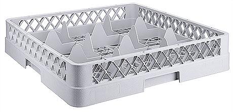 Spülkorb für Tassen und Gläser, 9 Fächer