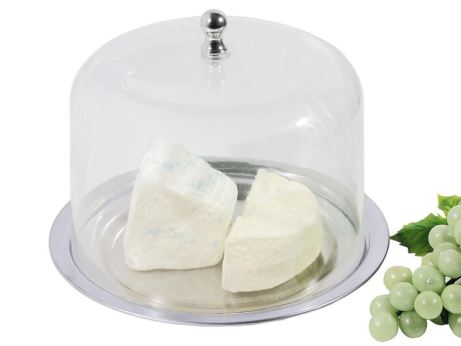 Platte mit Käseglocke Ø 21 cm