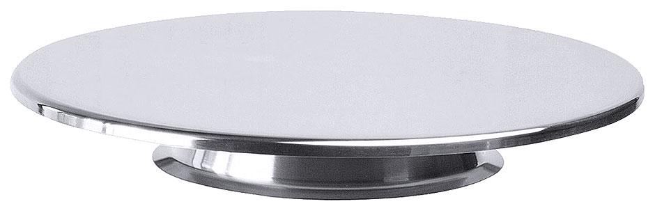 Tortenplatte mit flachem breiten Fuß; 2 cm hoch